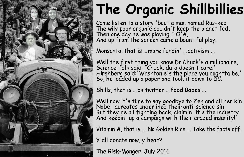 The Organic Shillbillies with text